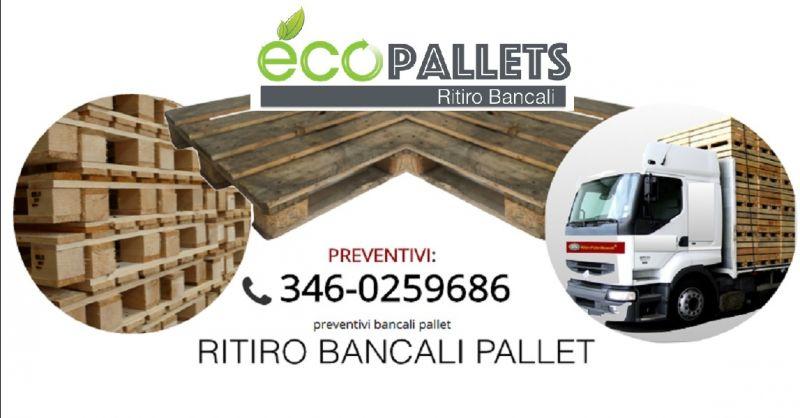 offerta ECOPALLETS compro bancali usati a Verona - occasione ritiro pallets a domicilio Verona