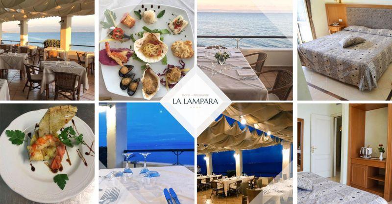 Hotel Ristorante La Lampara - Offerta ristorante terrazza vista mare Gizzeria Catanzaro – Promozione hotel camere vista mare