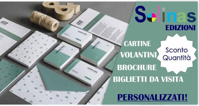 TIPOGRAFIA SOLINAS - promozione stampa volantini biglietti da visita personalizzati