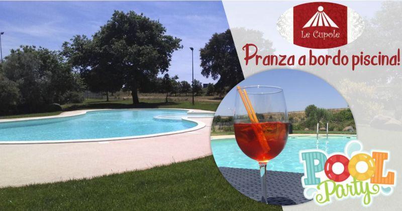 LE CUPOLE RISTORANTE BORORE - offerta pranzo in giardino a bordo piscina