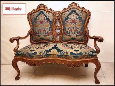 silluzio arredamenti for sale antique two seater sofa baroque style made in italy