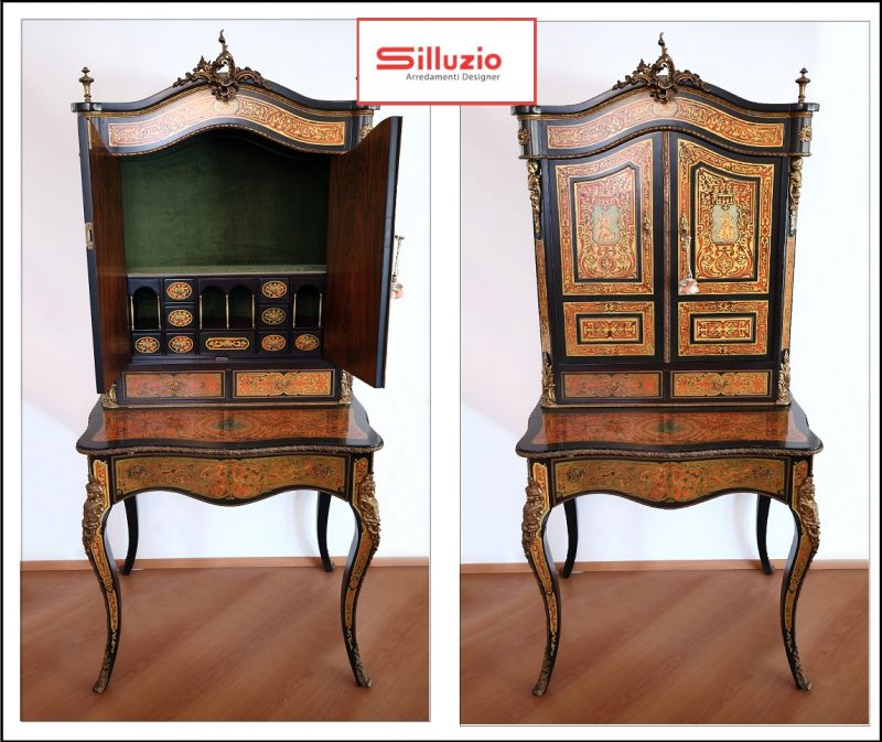 Special sale of prestigious Boulle marquetry writing-desk in French 17th century style Italy