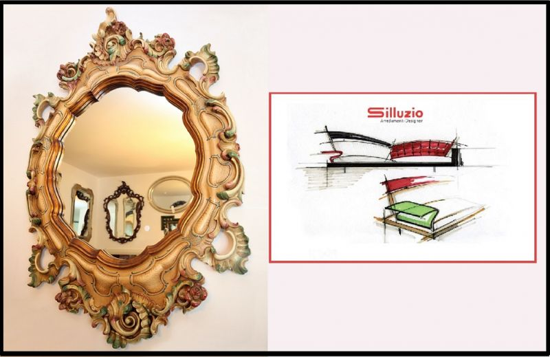 Silluzio Arredamenti Special offer 1978 wall mirror in Renaissance style made in Italy