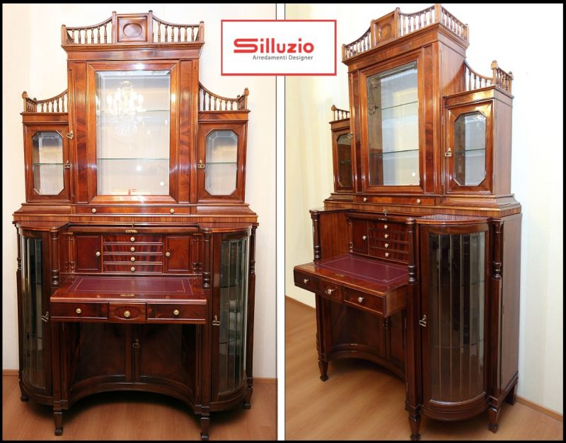 Special offer sale of display cabinet in English style reproduction of Sheraton style Italy