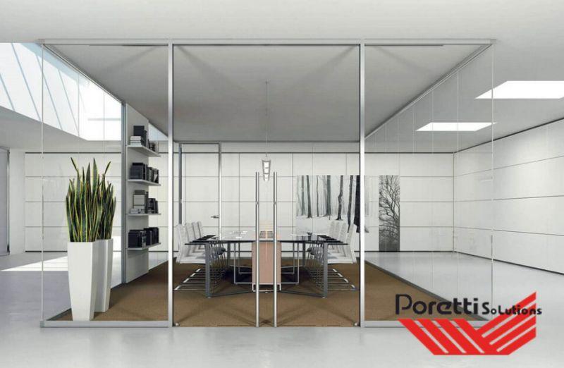 PORETTI SOLUTIONS offerta pareti divisorie monolitiche fly -promo pareti divisorie in alluminio