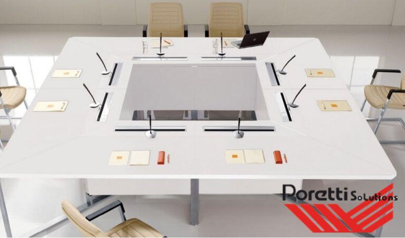 PORETTI SOLUTIONS offerta arredo sala conferenze pegaso - promozione tavoli sala riunione