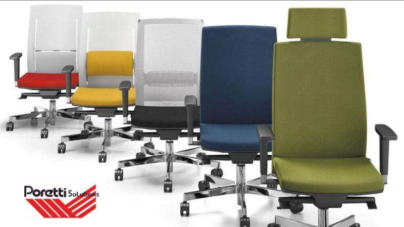 PORETTI SOLUTIONS offerta sedie per ufficio ergonomiche - promozione sedute sale d attesa