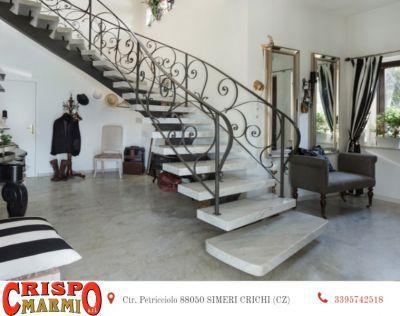 offerta realizzazione scale in marmo catanzaro promozione marmo carrara rosa portogallo