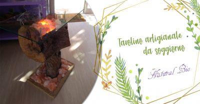 offerta tavolino da soggiorno artigianale in legno taranto natural bio