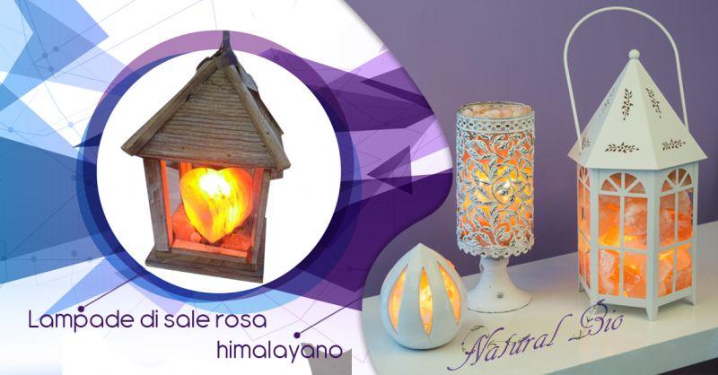 Offerta vendita lampade artigianali in sale rosa himalayano Taranto - Natural Bio