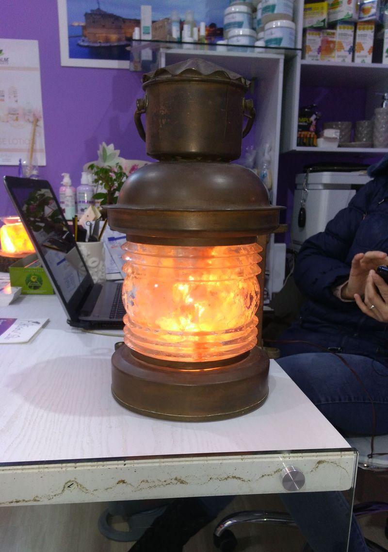 Offerta lampada di sale rosa himalayano personalizzata artigianale taranto