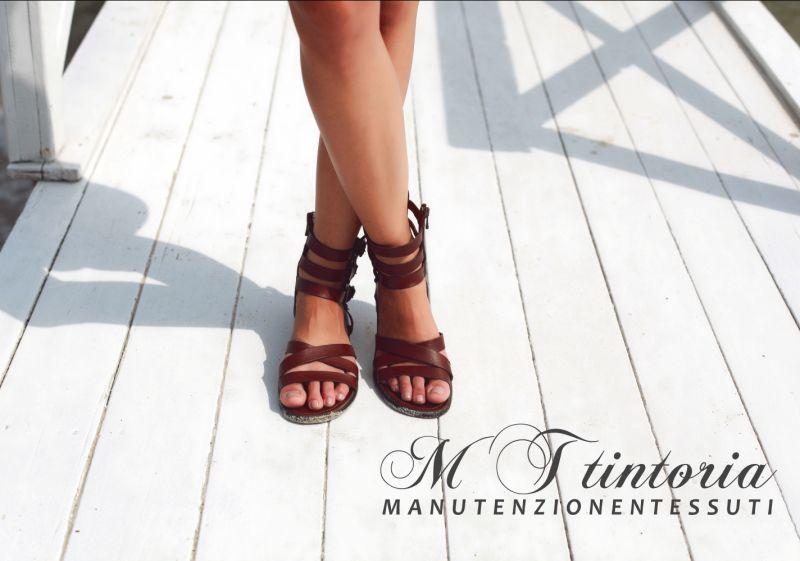 MT TINTORIA offerta smacchiare sandali - promozione come smacchiare le calzature