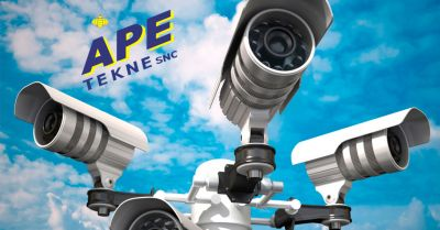 ape tekne offerta installazione videosorveglianza tvcc videocontrollo da remoto roma