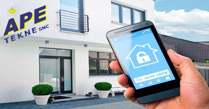Ape Tekne offerta installazione antifurto wireless impianti di sicurezza domestica Roma