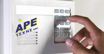 ape tekne offerta installazione impianti di sicurezza domestica occasione allarme casa roma