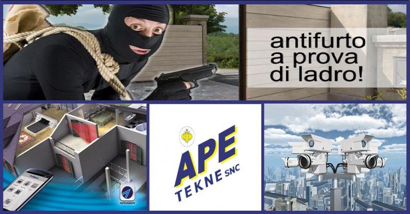 APE TEKNE SNC Offerta realizzazione impianti di sicurezza antirapina antintrusione  Roma