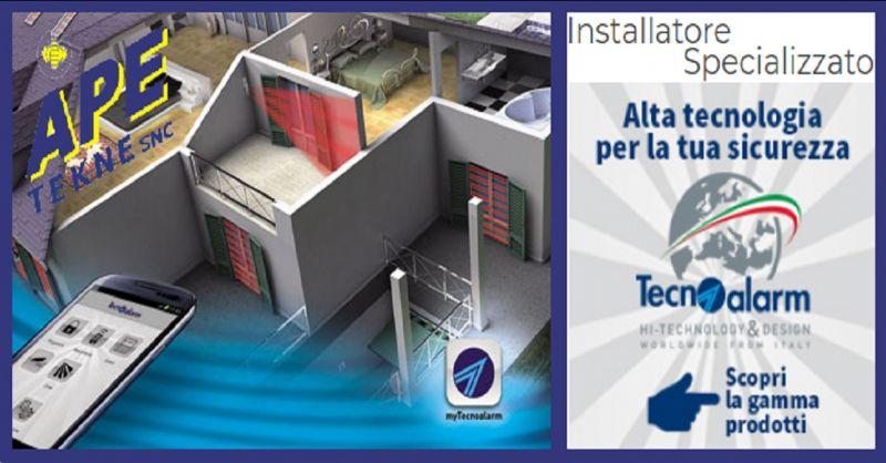 APE TEKNE Occasione  installatori specializzati Tecnoalarm - sistemi antifurto high tecnology