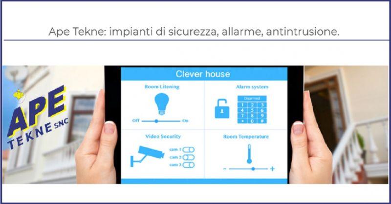 APE TEKNE SNC Offerta installatori specializzati Tecnoalarm Ostia Fregene Pomezia Andrea Anzio