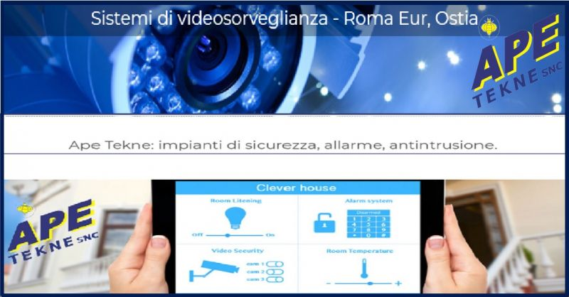 APE TEKNE Promozione servizio  installatori specializzati Tecnoalarm high tecnology Roma