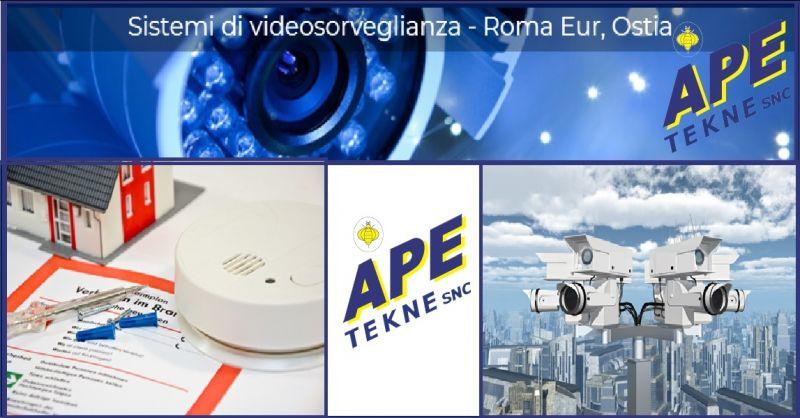 Ape Tekne offerta servizio vendita ed installazione antifurto sistemi nebbiogeni Roma