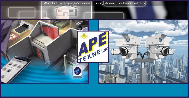 APE TEKNE Occasione servizio vendita installazione automazioni antirapina impianti tvcc Roma
