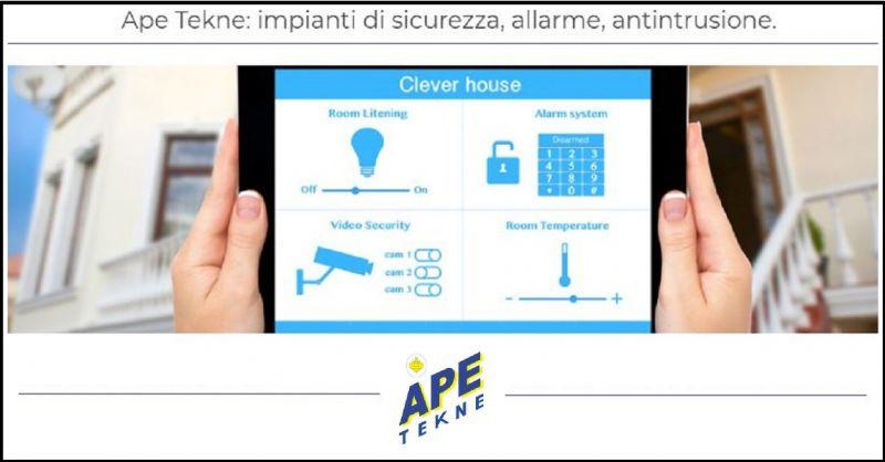 Ape Tekne occasione installazione impianti allarme nebbiogeni infernetto Roma zona eur