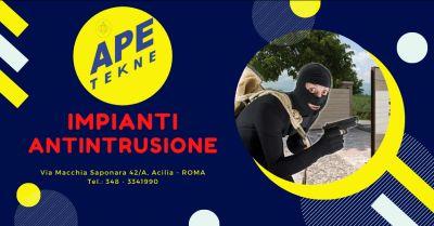 ape tekne offerta installazione impianti di allarme roma occasione sistemi antintrusione roma