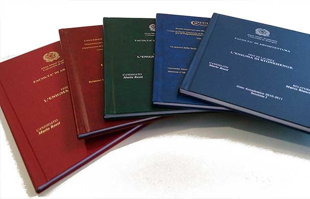 Offerta stampa e rilegatura tesi di laurea cartoleria lecce promozione tesine