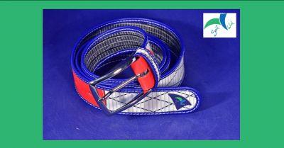 sail wind offerta vendita online cintura artigianale made in italy in tessuto da vela e pelle