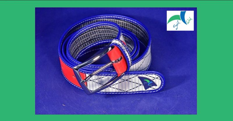 SAIL WIND - Offerta vendita online cintura artigianale made in Italy in tessuto da vela e pelle