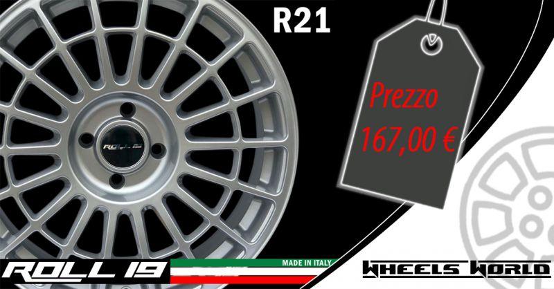 Offerta Cerchi in lega ROLL 19 mod Bergamo - Occasione Cerchi in Lega R21made in Italy Bergamo