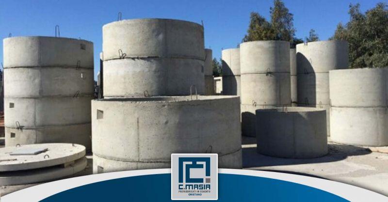 Offerta Tubi per pozzi in cemento armato Oristano - Occasione Tubi armati ed autoportanti Pozzi