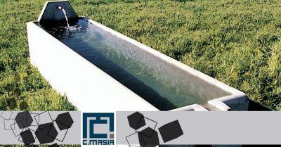 offerta vendita abbeveratoi in cemento occasione vasche prefabbricate per zootecnica oristano