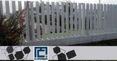 offerta realizzazione recinzioni a pettine occasione recinzioni in cemento a pali e lastre ad incasso