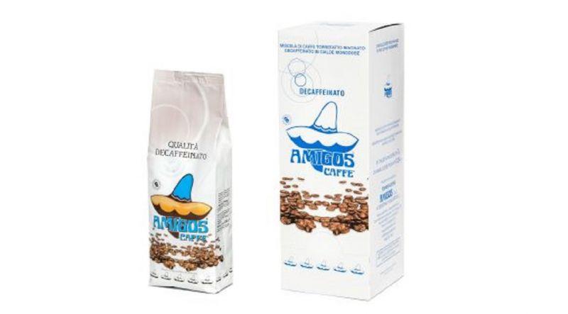 Amigos Caffè: offerta caffè italiano decaffeinato in grani, macinato, in cialde.