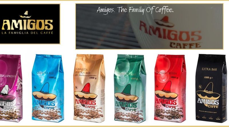 Amigos Caffè Offerta produzione italiana migliori miscele caffè per privati ed aziende