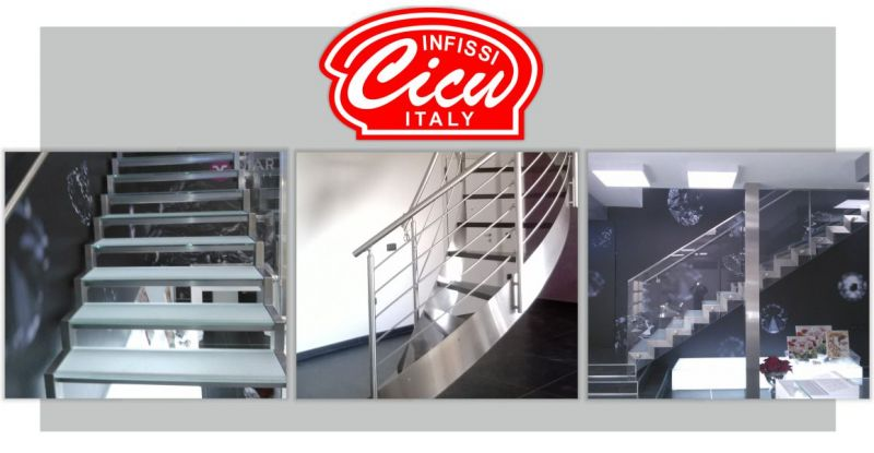 INFISSI CICU Marrubiu Oristano - offerta progettazione scale acciaio inox e dolce su misura