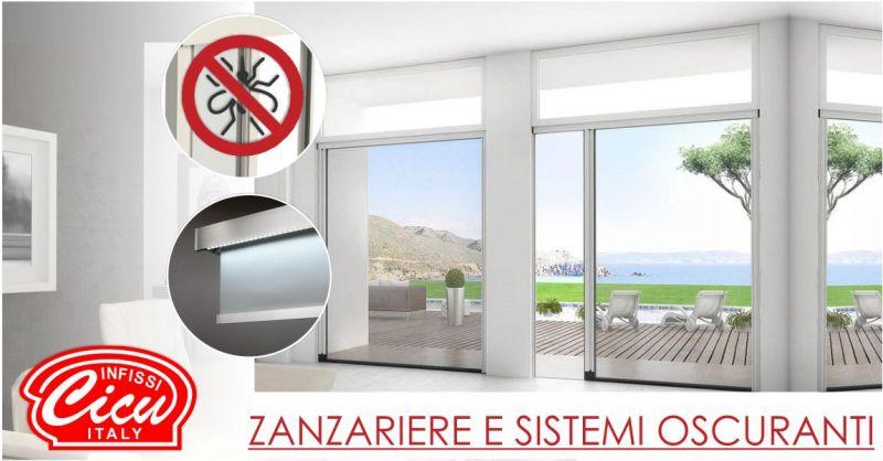 INFISSI CICU - offerta  zanzariere scorrevoli Mv Line e sistemi oscuranti Suncover