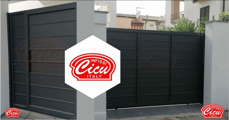 INFISSI CICU - offerta realizzazione cancelli di design scorrevoli uso pedonale e carrabile