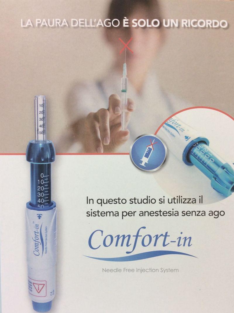 Anestesia senza ago COMFORT-IN