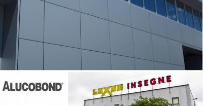 luxor insegne offerta vendita installazione pannelli compositi in alluminio alucobond