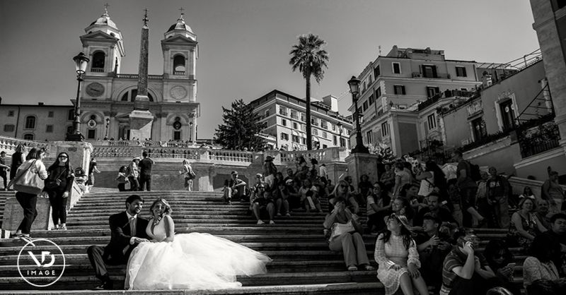 offerta riprese con drone per matrimonio Roma - occasione trailer matrimonio Roma