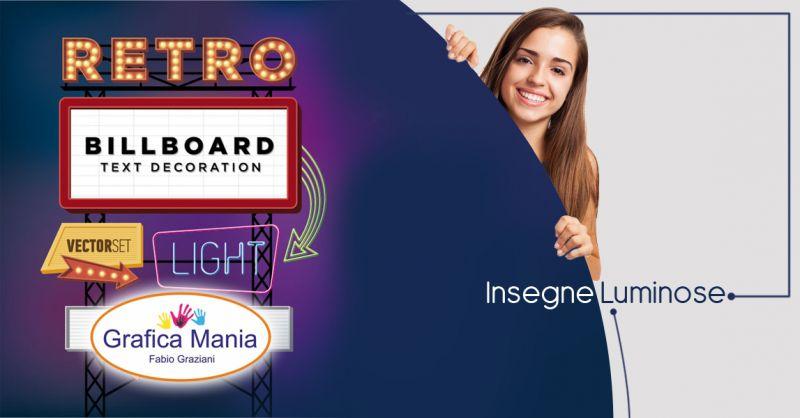 Offerta servizio insegne luminose personalizzate per aziende Montesano Sulla Marcellana