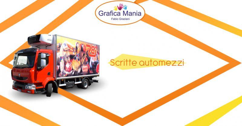 Offerta servizio realizzazione scritte automezzi Montesano Sulla Marcellana - Grafica Mania