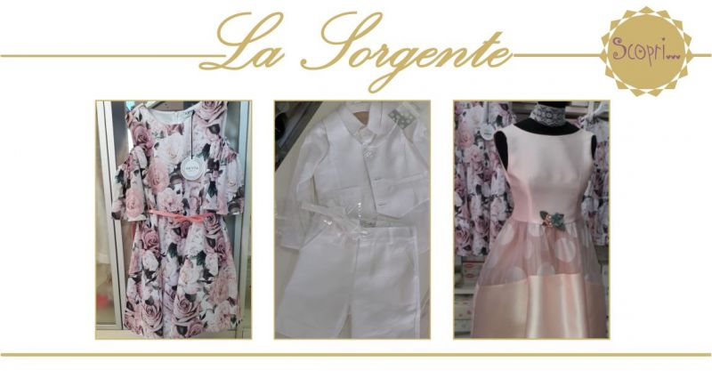 LA SORGENTE QUARTU - offerta abiti cerimonia bimbi per cresime comunioni primavera estate