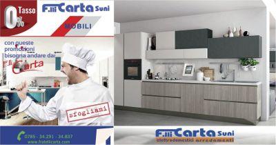 fratelli carta offerta composizione cucina modulare bloccata lube completa elettrodomestici