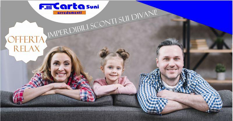 Fratelli Carta - offerta divani letto con penisola in tessuto sfoderabili