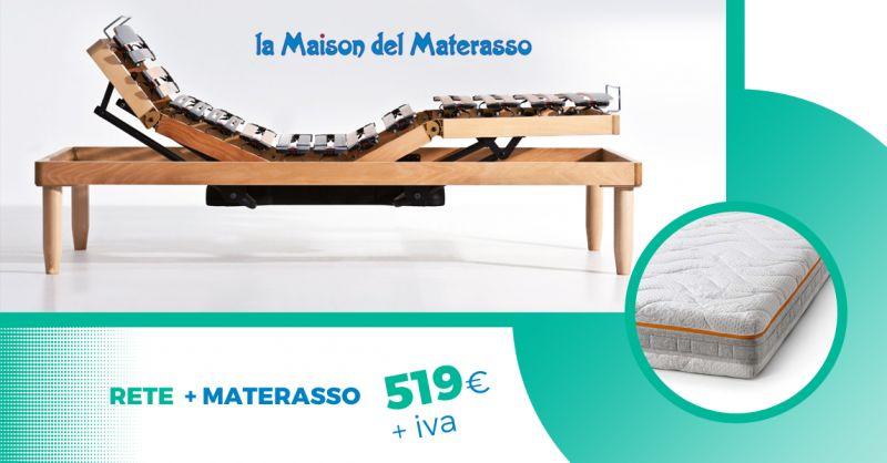 MAISON DEI MATERASSI - offerta materasso memory e rete elettrica doghe jesi
