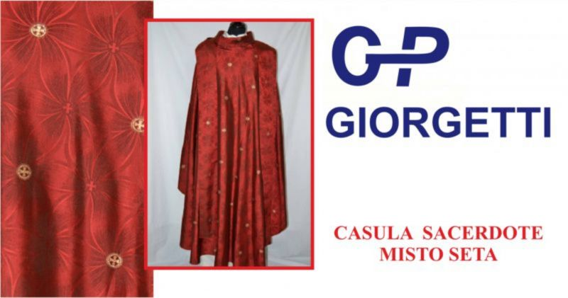 offerta vendita casule sacerdote loreto - promozione casule per sacerdote misto seta loreto