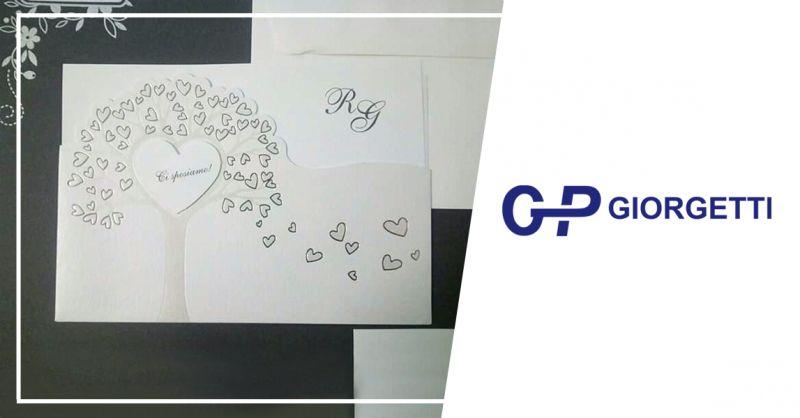 GP GIORGETTI offerta vendita partecipazioni cerimonia - occasione stampa partecipazioni inviti